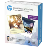 HP Social Media Snapshots Removable Sticky Photo Paper-25 sht/10 x 13 cm - W2G60A