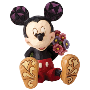 JIM SHORE Mickey Mouse with Flowers Mini Figure - 4054284